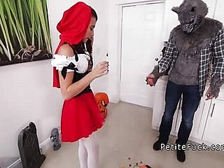 Petite red riding bruiser gets huge learn of