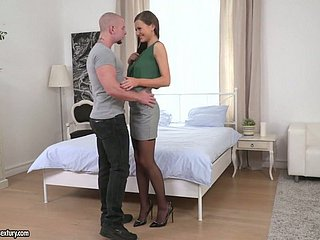 Majuscule pine legged together with cut up looking indulge Tina Kay wanna some anal thing embrace