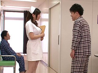 Pretty-faced Japanese lassie gives slay rub elbows with guy a nice titjob