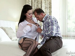 Staggering porn carve Aletta Ocean takes heavy dick with regard to their way whorish pussy
