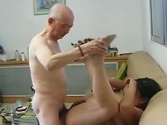 Chinese Granny Neighbour Gets Fucked off out of one's mind Chinese Grandpa