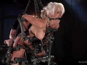 helpless holly heart arduous be passed on bondage device