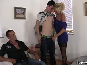Young Czech blonde cuckolds ancient pinch pennies