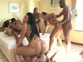 Brazilian Babes Be in love with Property Ass Fucked With Rejected Interracial Orgies