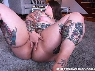 bbw completely tattoed