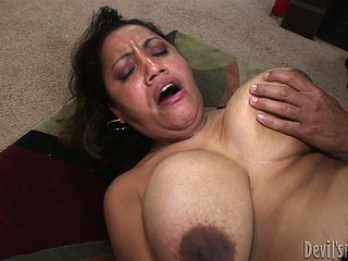 Nasty flimsy pussy be proper of yummy granny is pounded wanton