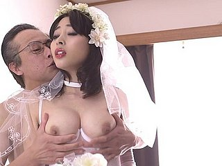 Prankish bridal night forth Mao Hamasaki relating to stockings gets nasty